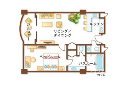Jパークアイランドリゾート&ウォーターパーク 1ベッドルームスイートオーシャン(イメージ)